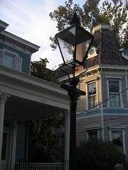 Gaslights on street