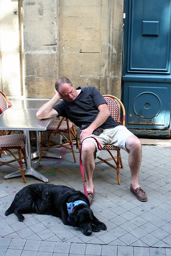 Dad and Eiko waiting, sleeping