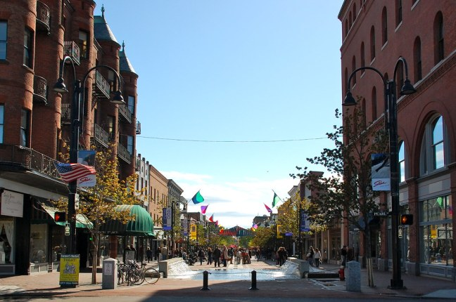 Very cool pedestrian-only street in Burlington