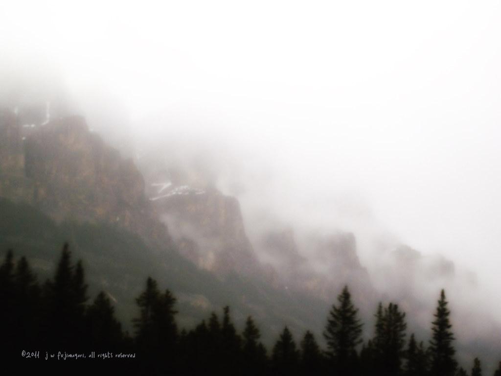 Castle Ramparts In Fog