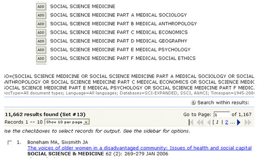 Searching full and abbreviated journal titles in Web of