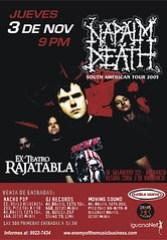 Poster Napalm Death Peru