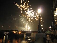 Fireworks over Southwark Bridge
