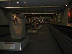 African statues in the airport
