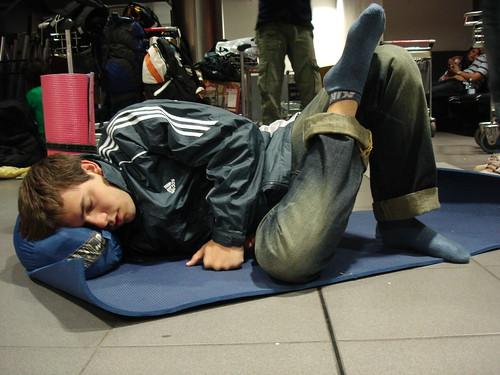 Durmiendo en el aeropuerto de Dubl�n