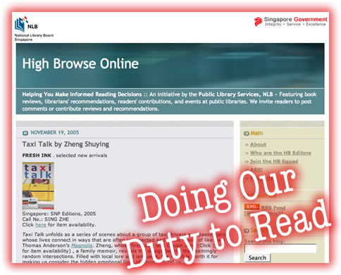 High Browse Online: Singapore's Book Blog