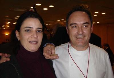 Ferran Adri? con Ines Pe?a
