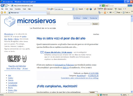 Microsiervos en IE7