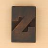 wood type letter Z