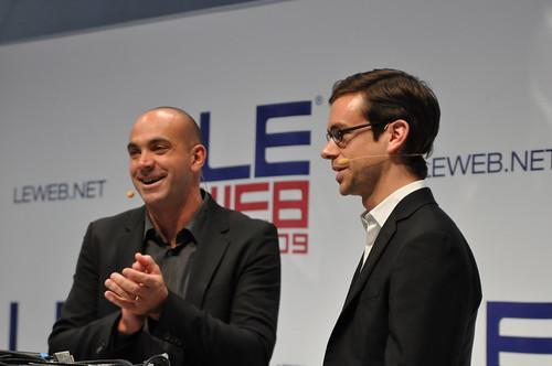 Le Web 2009: Loic Le Meur and Jack Dorsey of Twitter