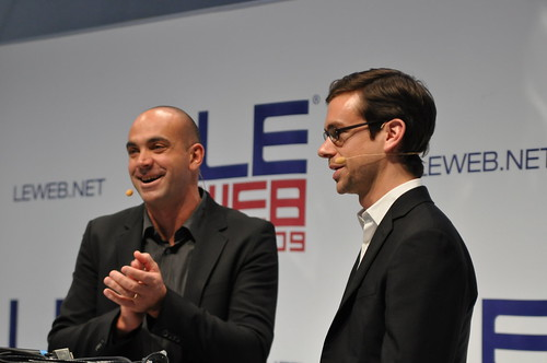 Le Web 2009: Loic Le Meur and Jack Dorsey of Twitter