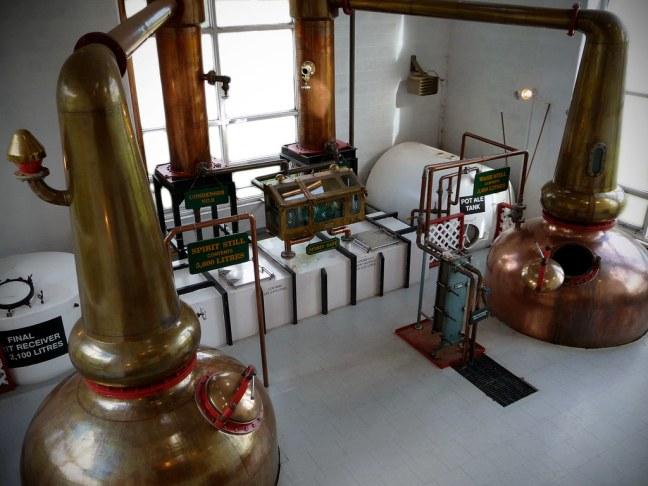 Making single malt whiskey at Glenora Distillery