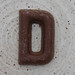 chocolate letter D