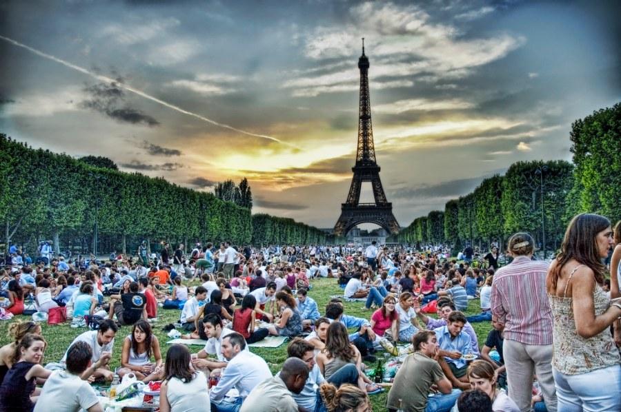 Sunset Picnic in Paris