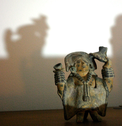 Aztec God Casts a Shadow