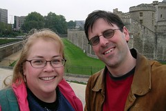 Jeannie and I outside the Tower of London