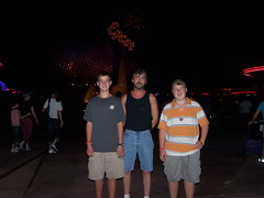 Andy, Ron, and Jake at Epcot