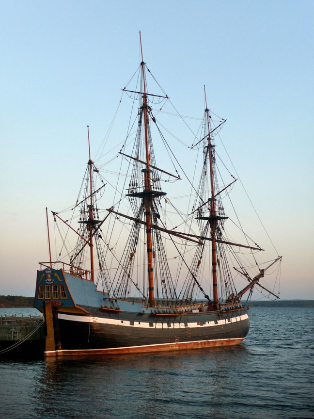 Ship Hector in Pictou, Nova Scotia