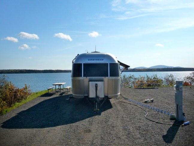 Campsite in Bar Harbor, Maine