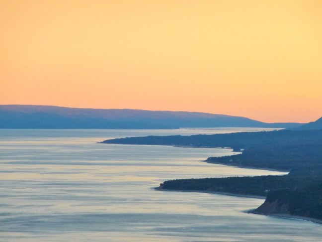 Sunset along Cabot Trail