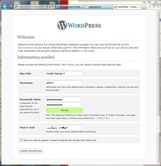 Basic Configuration WordPress