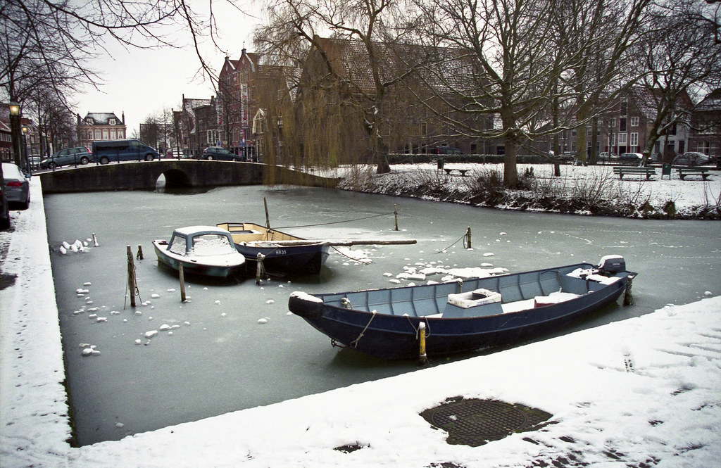 Frozen harbour