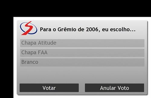 Screenshot da Votação do Grêmio