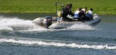 Dinghy Cornering from Behind at Holme Pierrepont National Watersports Centre