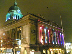 Nottingham Council House with Christmas Lights
