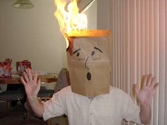 Oh noes! My head is on fire!