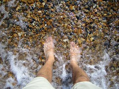 My feet in the water