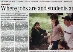 Globe and Mail article - Where jobs are and students aren't