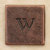 Copper Square Letter w