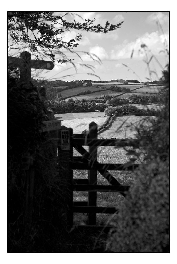 High Bray black-and-white view