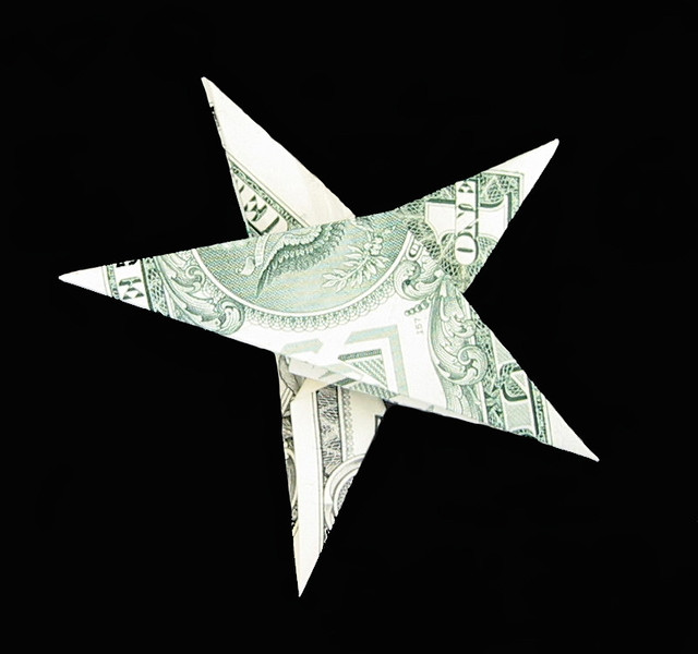MONEY ORIGAMI STAR EMBROIDERY Amp ORIGAMI