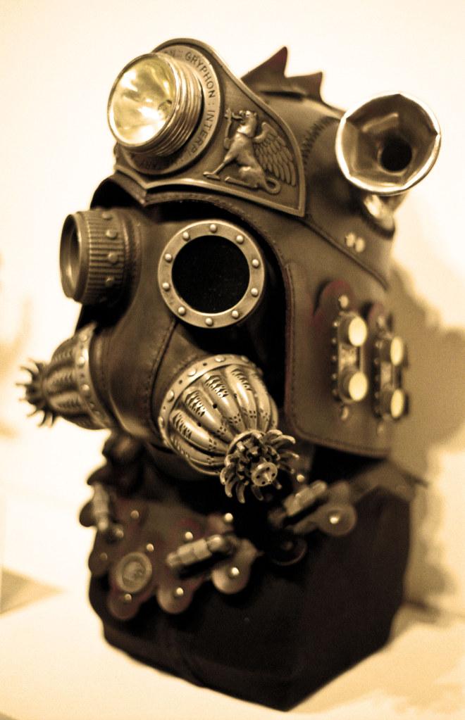 Steampunk mask   Sepia