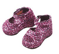 Pink Leopard print platform shoes