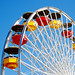 Ferris Wheel. Santa Monica Pier, Los Angeles.