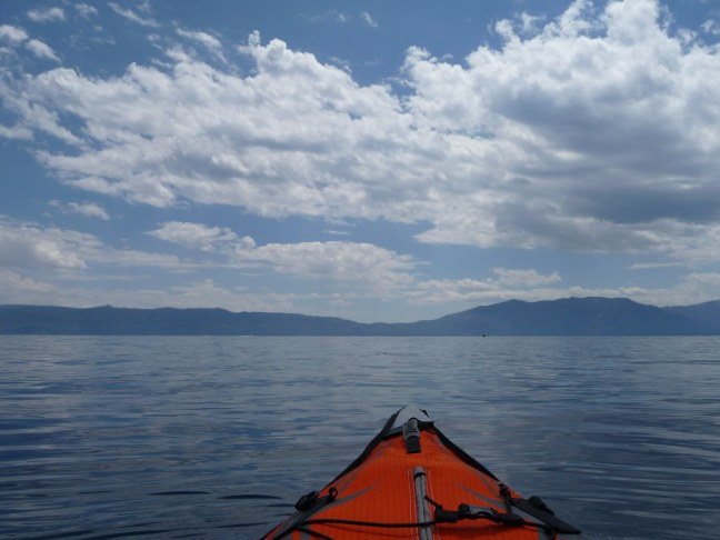 Kayaking in Emerald Bay