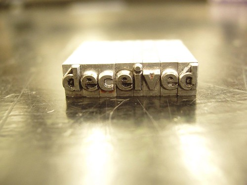 deceived lettertype
