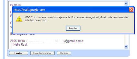 Aviso Gmail