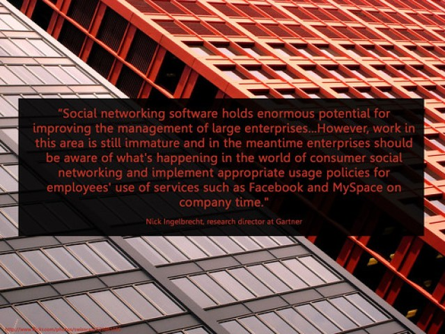 use social networks at work