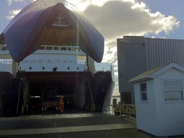 Boarding ferry to Newfoundland