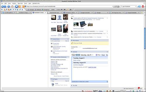 Facebook, bebo and myspace