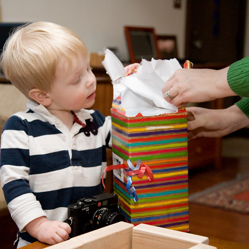 Opening Diddy's Present