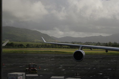 Mauritius as seen from a departure lounge