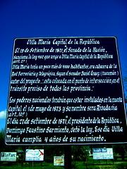 Villa María, Capital de la República
