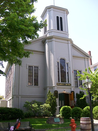 Exterior of Seamen's Bethel in New Bedford