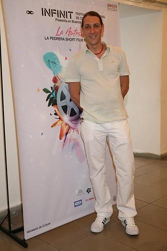 Humberto Tortonese en la antesala La Pedrera