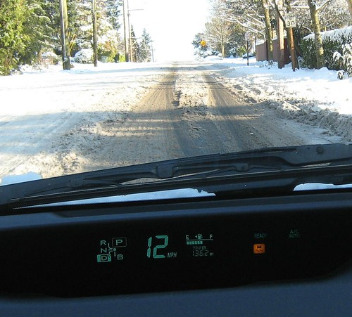 Danger!  car is slipping